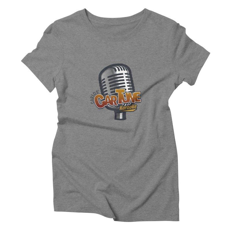 Carlos' CarTune Karaoke Logo Women's Triblend T-Shirt by Coconut Justice's Artist Shop