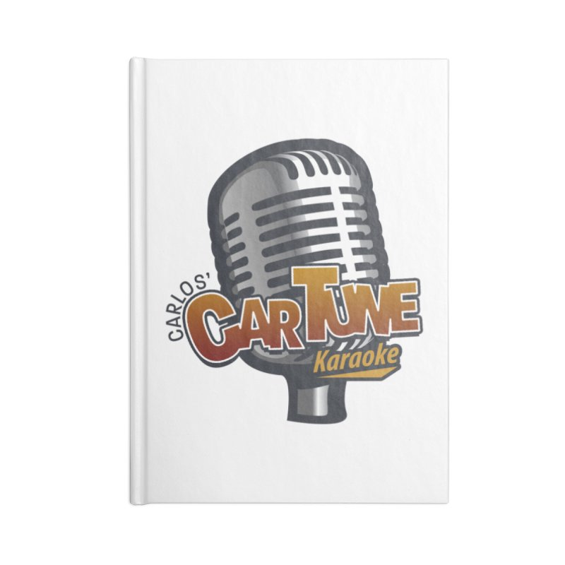 Carlos' CarTune Karaoke Logo Accessories Blank Journal Notebook by Coconut Justice's Artist Shop