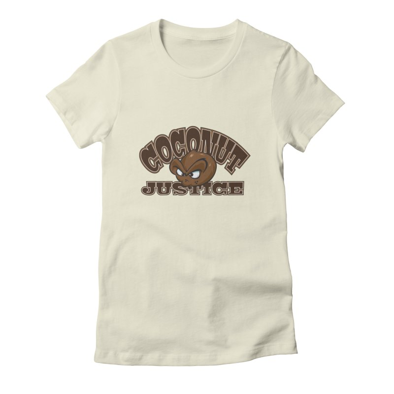 Coconut Justice Logo Women's Fitted T-Shirt by Coconut Justice's Artist Shop