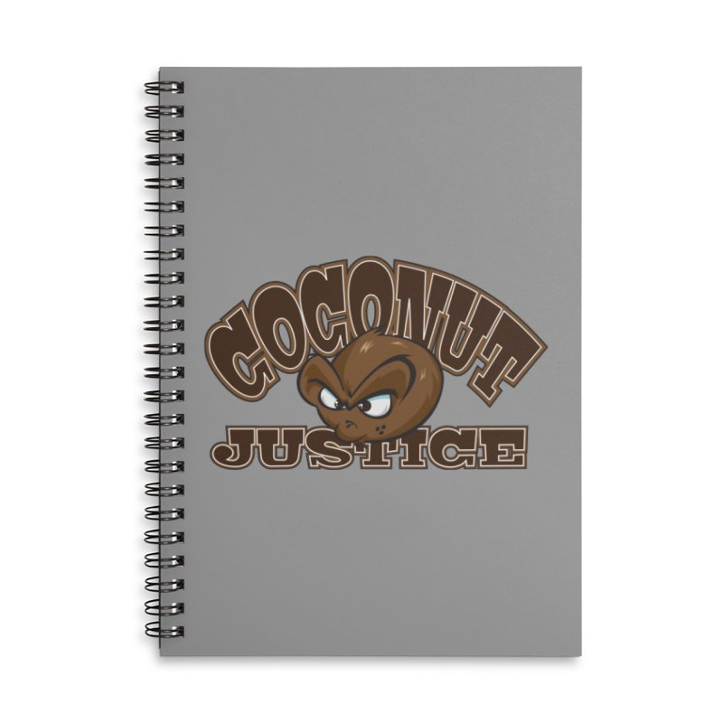 Coconut Justice Logo Accessories Lined Spiral Notebook by Coconut Justice's Artist Shop