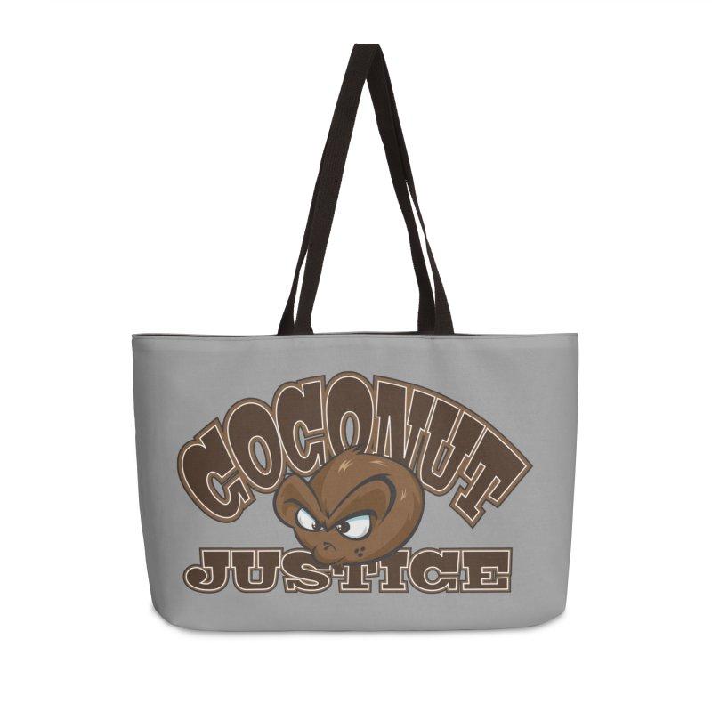 Coconut Justice Logo Accessories Weekender Bag Bag by Coconut Justice's Artist Shop