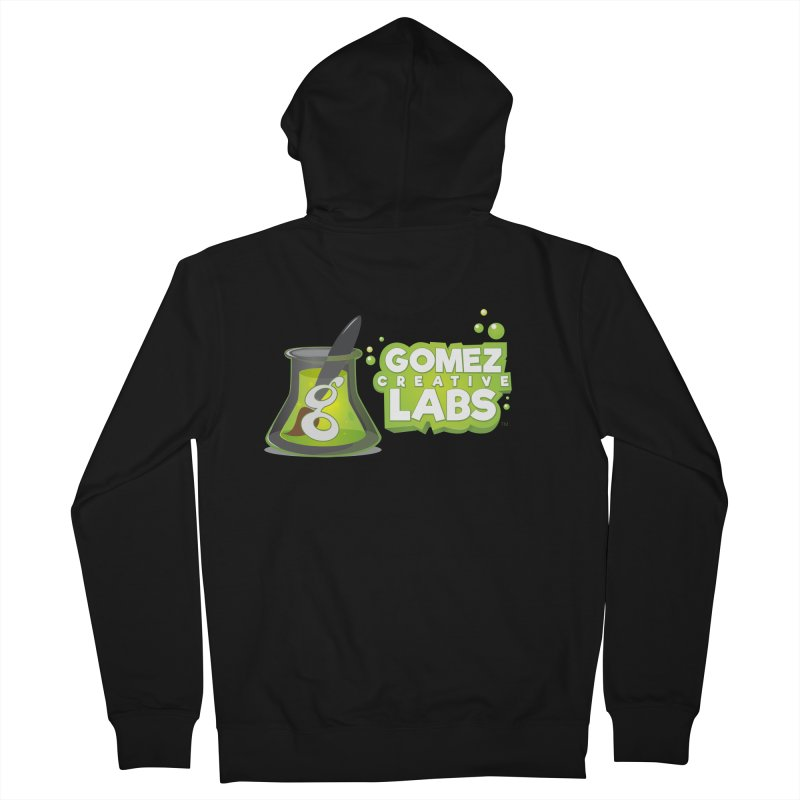 Gomez Creative Labs Logo Men's French Terry Zip-Up Hoody by Coconut Justice's Artist Shop