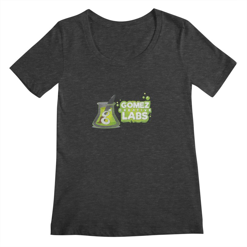 Gomez Creative Labs Logo Women's Scoopneck by Coconut Justice's Artist Shop