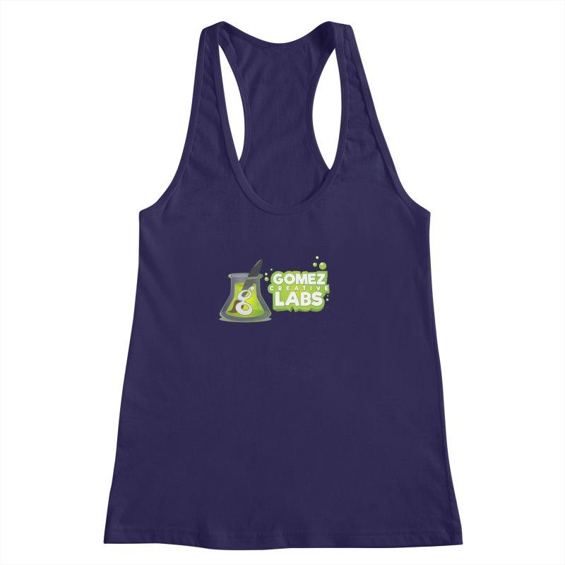 Gomez Creative Labs Logo Women's Racerback Tank by Coconut Justice's Artist Shop