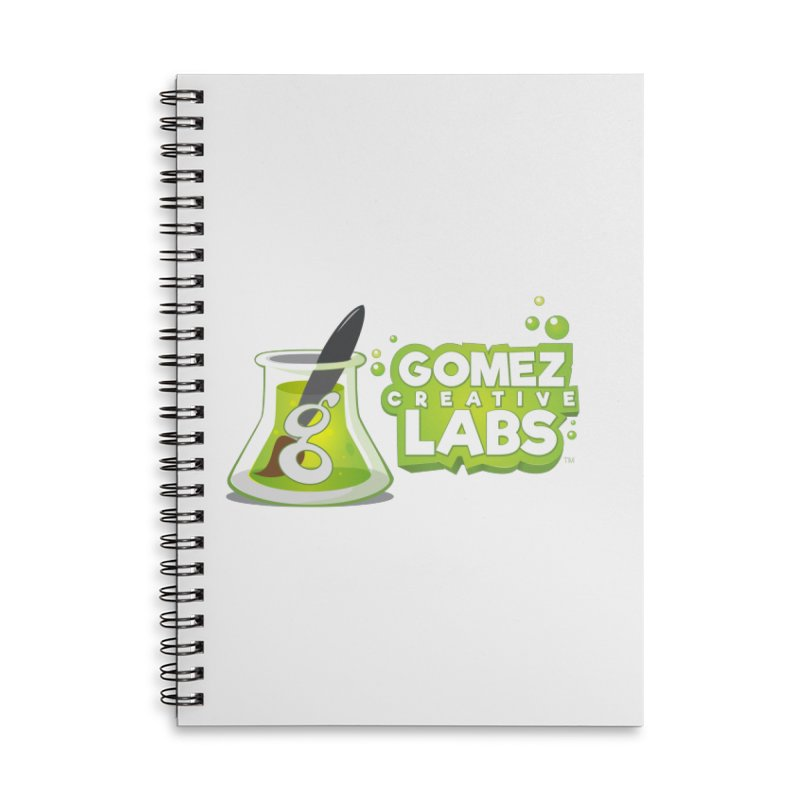 Gomez Creative Labs Logo Accessories Lined Spiral Notebook by Coconut Justice's Artist Shop