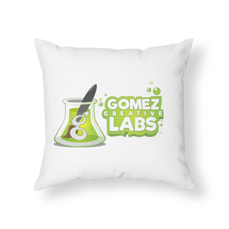 Gomez Creative Labs Logo Home Throw Pillow by Coconut Justice's Artist Shop