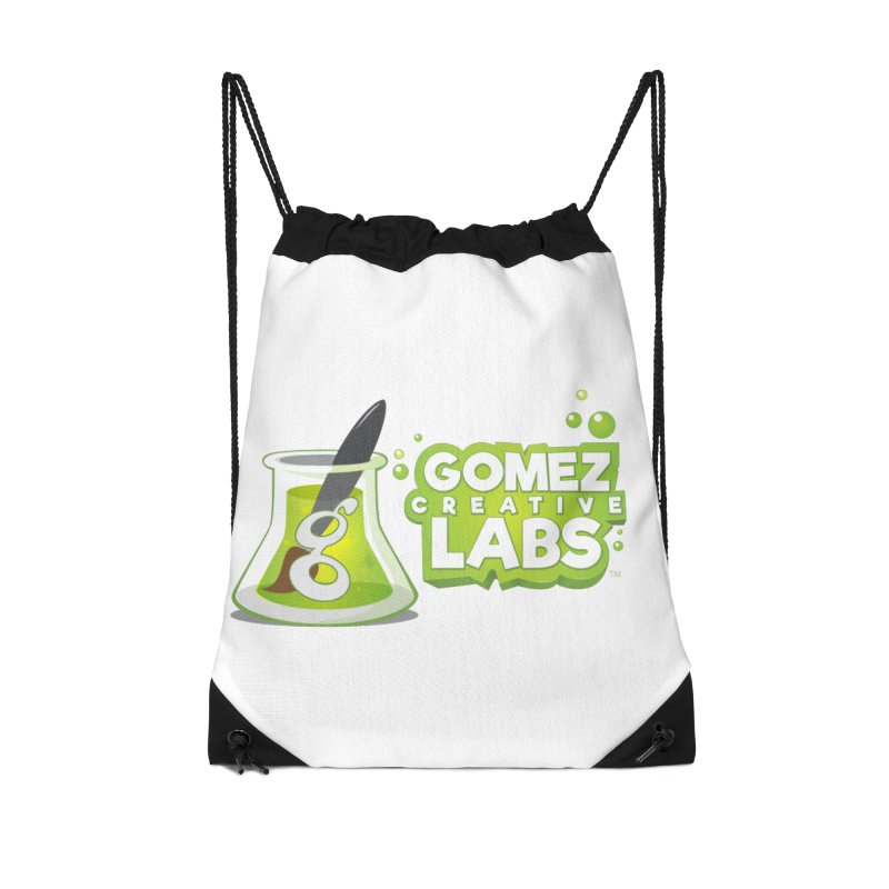 Gomez Creative Labs Logo Accessories Drawstring Bag Bag by Coconut Justice's Artist Shop