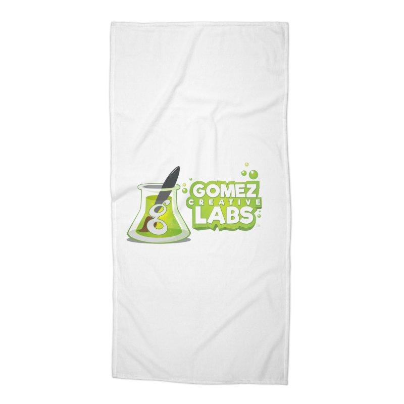 Gomez Creative Labs Logo Accessories Beach Towel by Coconut Justice's Artist Shop
