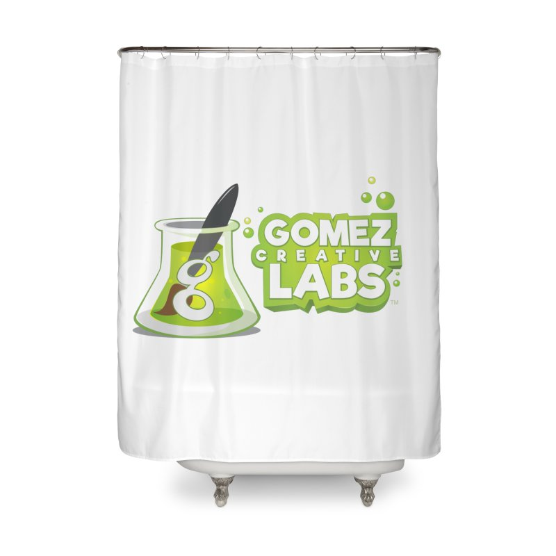 Gomez Creative Labs Logo Home Shower Curtain by Coconut Justice's Artist Shop