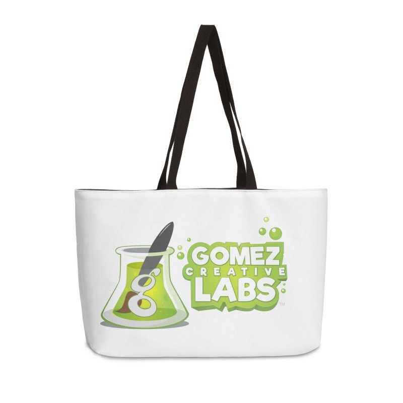 Gomez Creative Labs Logo Accessories Weekender Bag Bag by Coconut Justice's Artist Shop