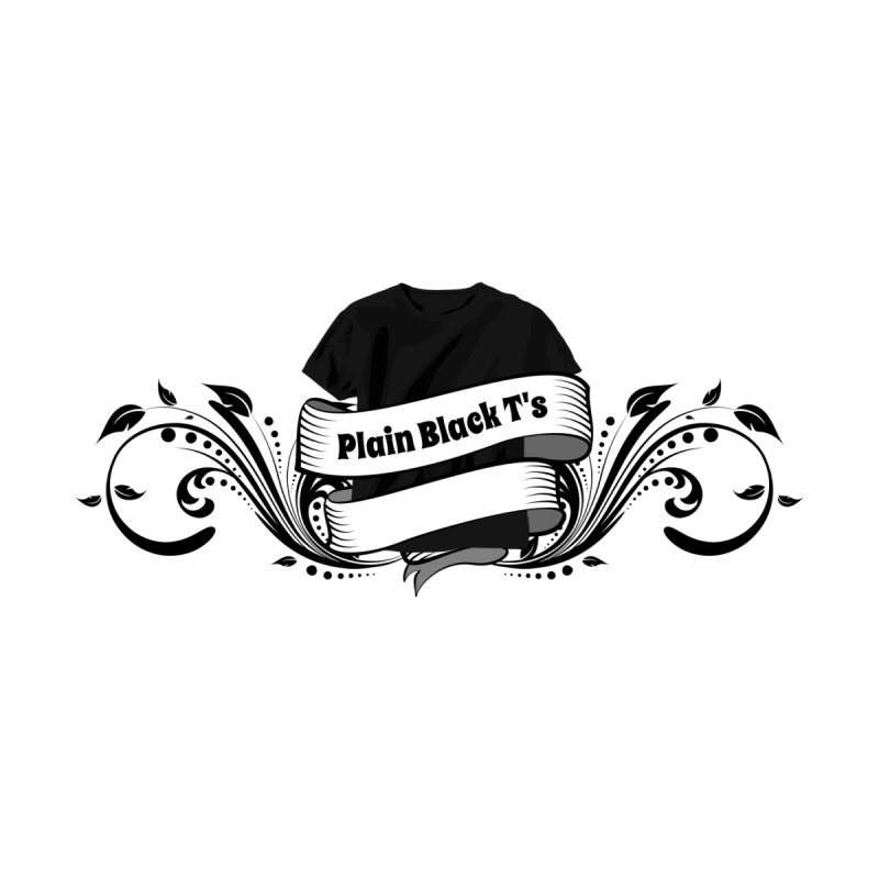 Plain Black T's Logo Men's T-Shirt by Coconut Justice's Artist Shop