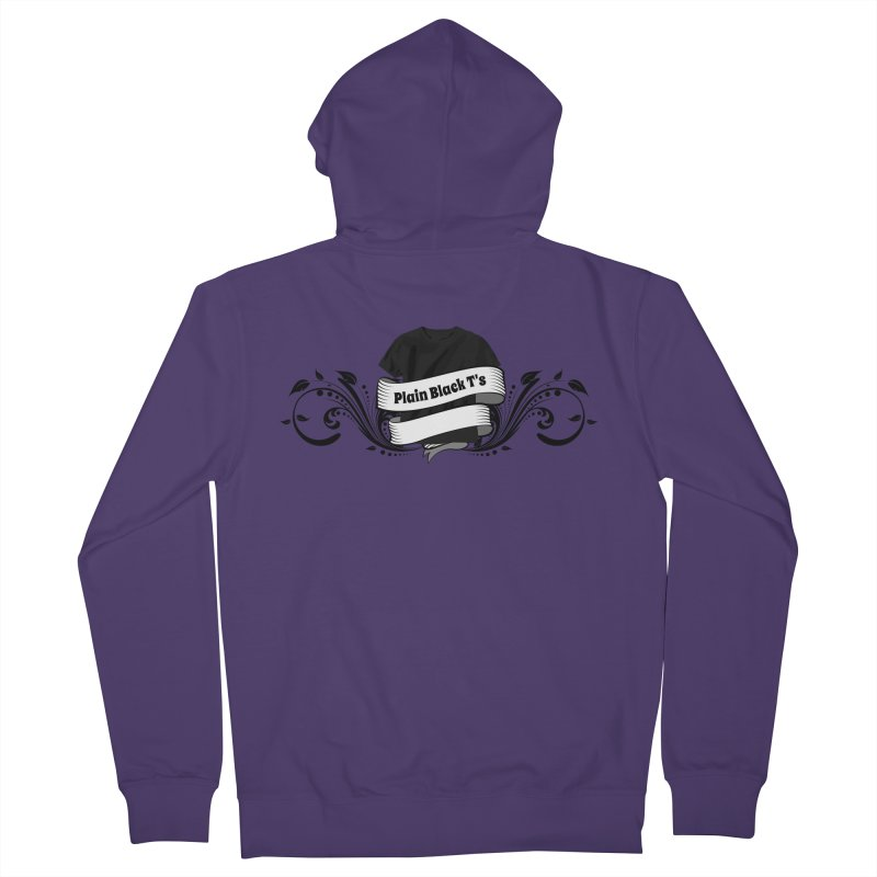 Plain Black T's Logo Women's French Terry Zip-Up Hoody by Coconut Justice's Artist Shop