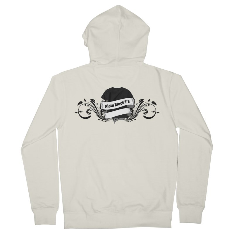 Plain Black T's Logo Women's Zip-Up Hoody by Coconut Justice's Artist Shop