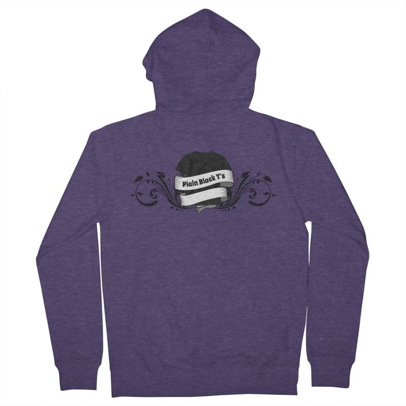 Plain Black T's Logo Men's French Terry Zip-Up Hoody by Coconut Justice's Artist Shop
