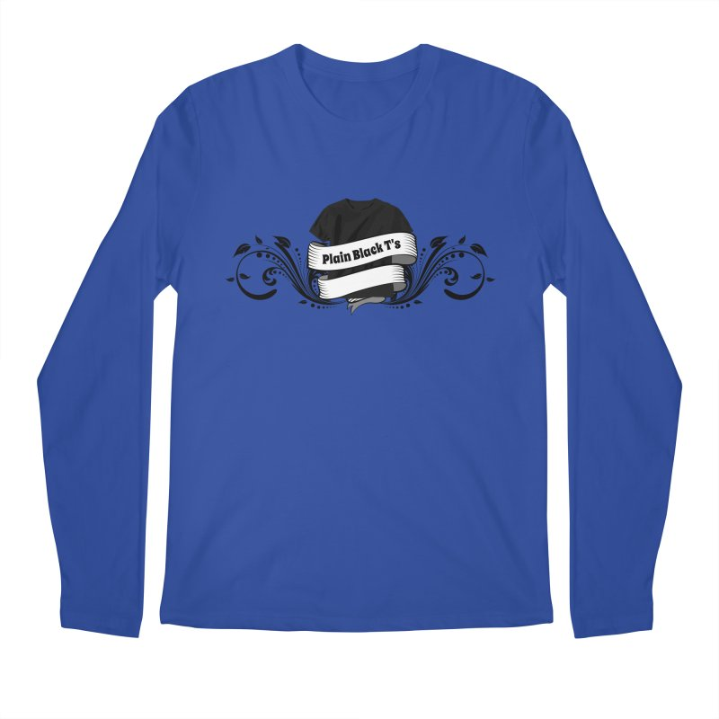Plain Black T's Logo Men's Regular Longsleeve T-Shirt by Coconut Justice's Artist Shop