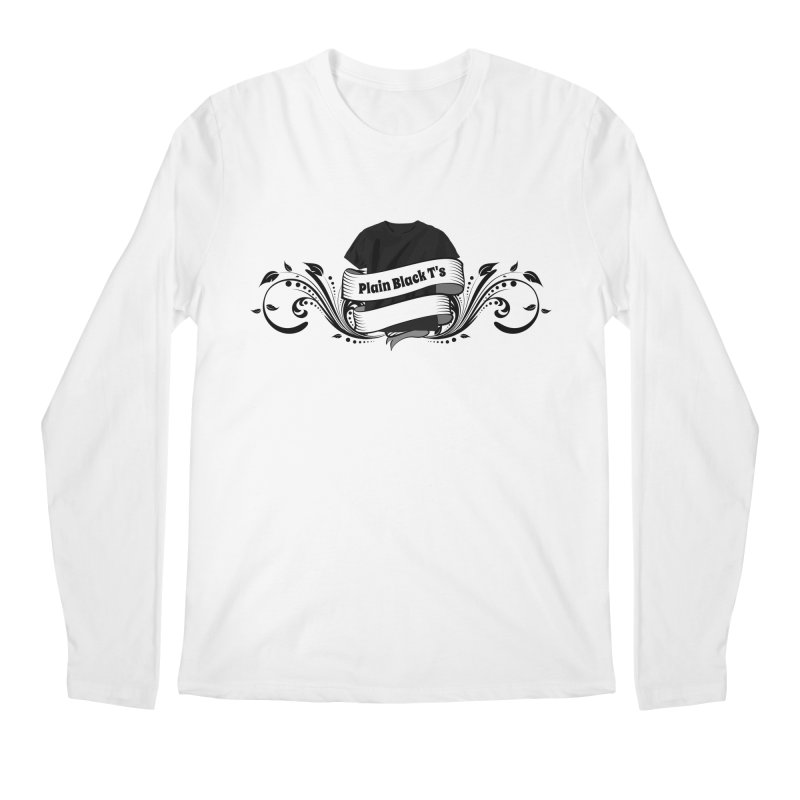 Plain Black T's Logo Men's Regular Longsleeve T-Shirt by Coconut Justice's Artist Shop