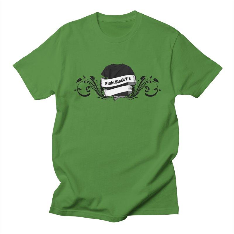 Plain Black T's Logo Men's Regular T-Shirt by Coconut Justice's Artist Shop
