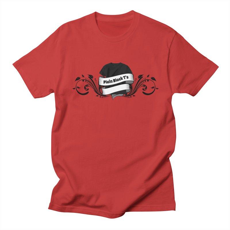 Plain Black T's Logo Women's Regular Unisex T-Shirt by Coconut Justice's Artist Shop