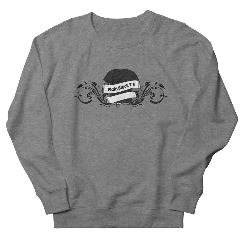 Plain Black T's Logo Men's French Terry Sweatshirt by Coconut Justice's Artist Shop