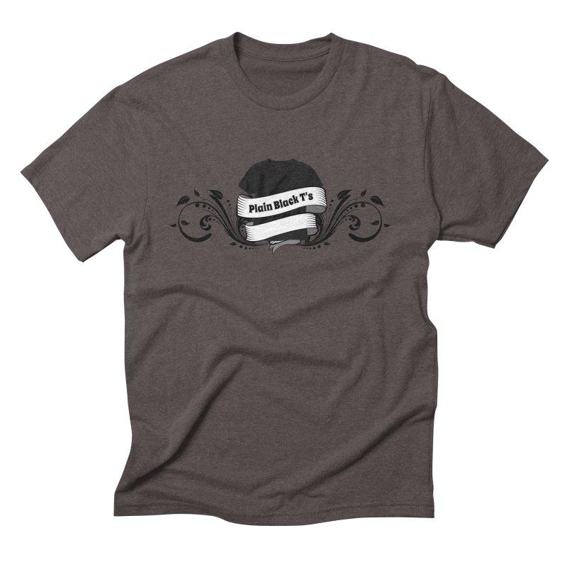 Plain Black T's Logo Men's Triblend T-Shirt by Coconut Justice's Artist Shop