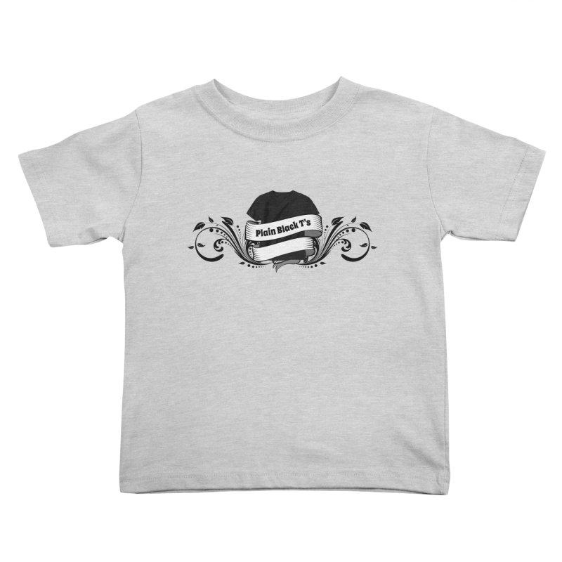 Plain Black T's Logo Kids Toddler T-Shirt by Coconut Justice's Artist Shop