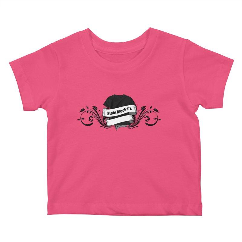Plain Black T's Logo Kids Baby T-Shirt by Coconut Justice's Artist Shop
