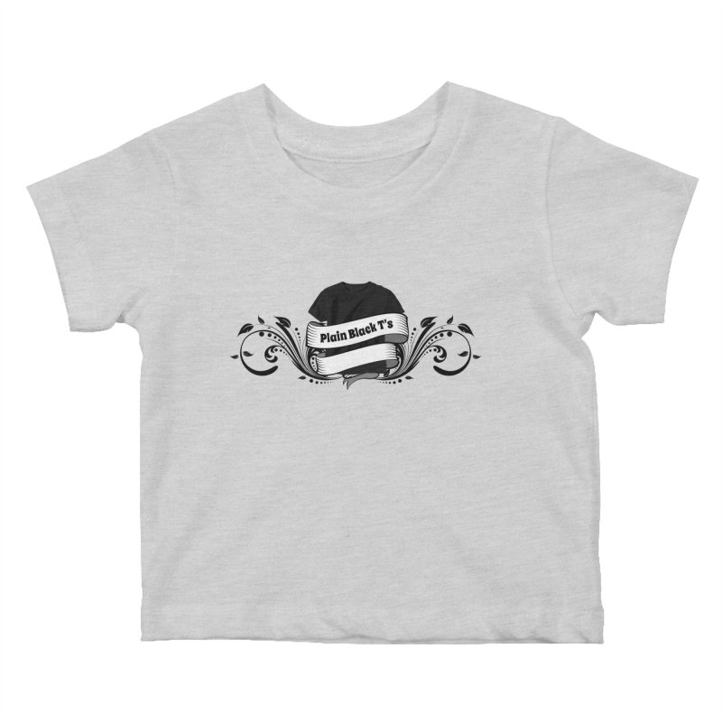 Plain Black T's Logo Kids Baby T-Shirt by Coconut Justice's Artist Shop