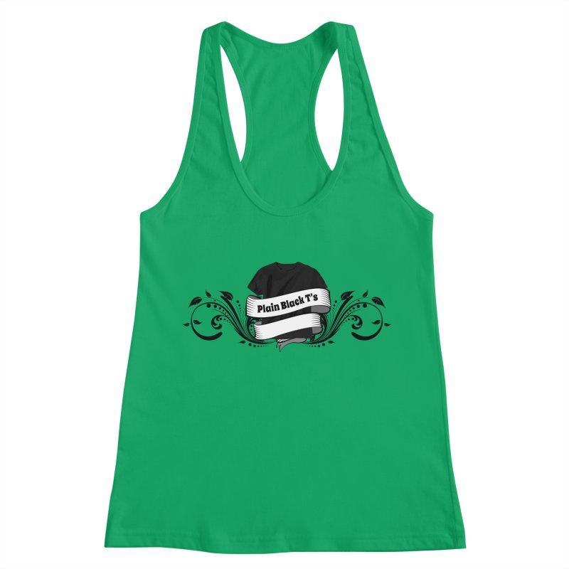 Plain Black T's Logo Women's Racerback Tank by Coconut Justice's Artist Shop