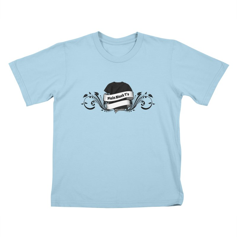 Plain Black T's Logo Kids T-Shirt by Coconut Justice's Artist Shop