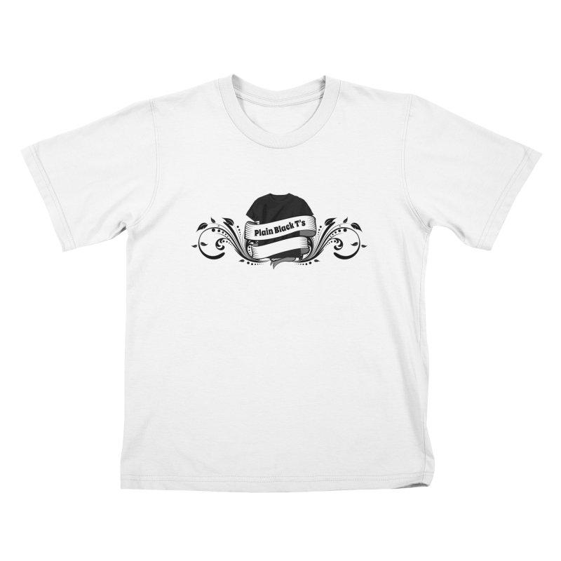 Plain Black T's Logo Kids T-Shirt by Coconut Justice's Artist Shop