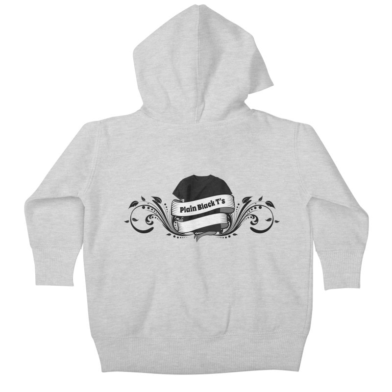Plain Black T's Logo Kids Baby Zip-Up Hoody by Coconut Justice's Artist Shop