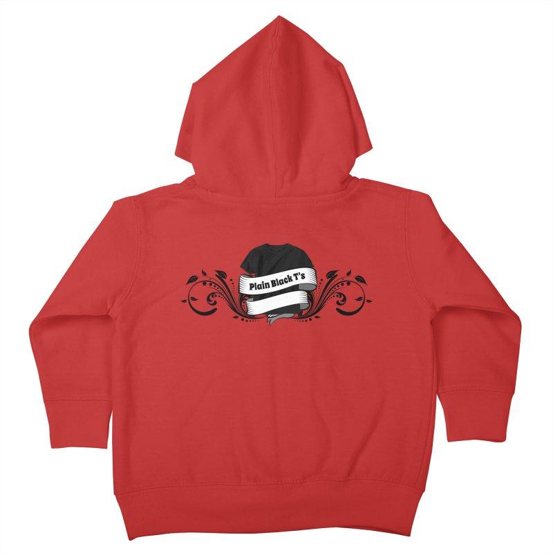 Plain Black T's Logo Kids Toddler Zip-Up Hoody by Coconut Justice's Artist Shop