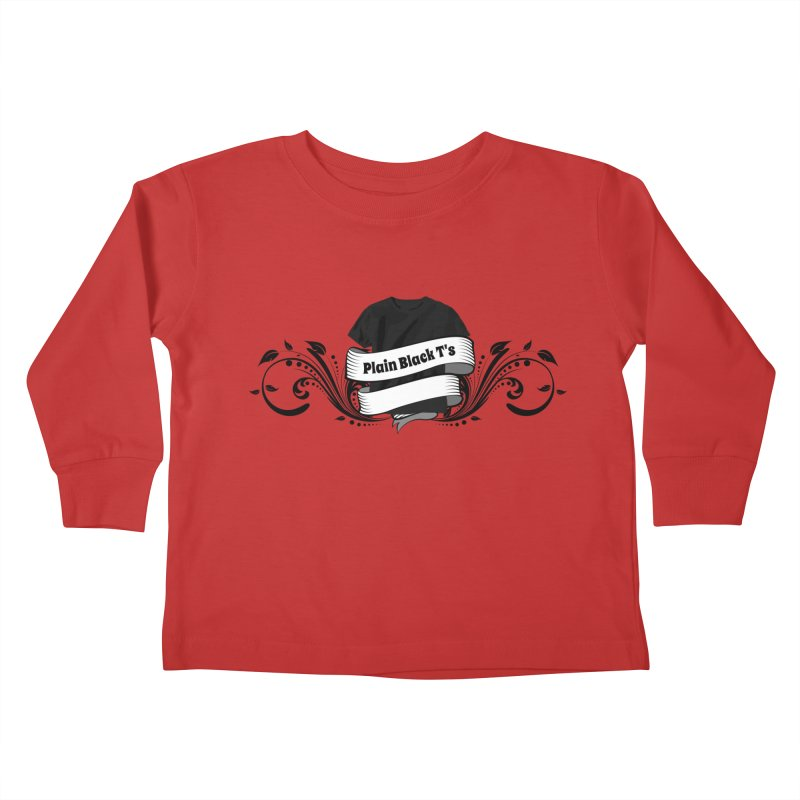 Plain Black T's Logo Kids Toddler Longsleeve T-Shirt by Coconut Justice's Artist Shop