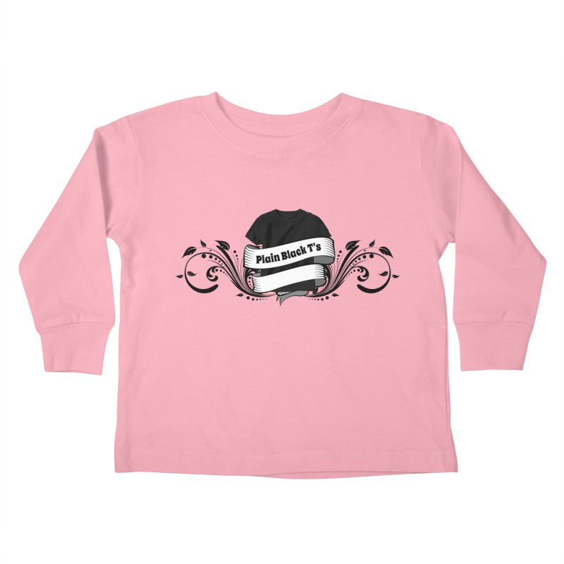 Plain Black T's Logo Kids Toddler Longsleeve T-Shirt by Coconut Justice's Artist Shop
