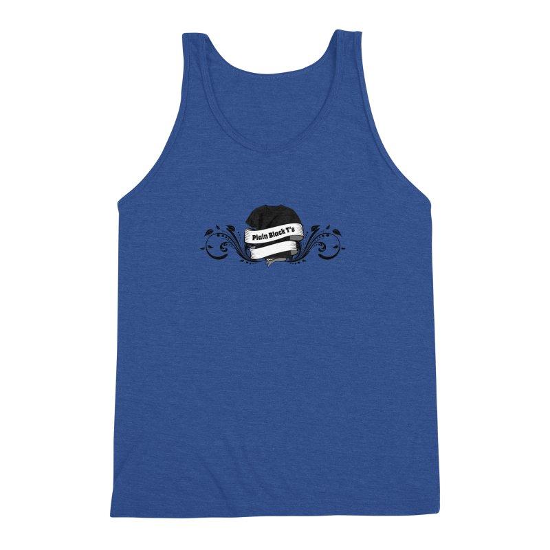Plain Black T's Logo Men's Triblend Tank by Coconut Justice's Artist Shop