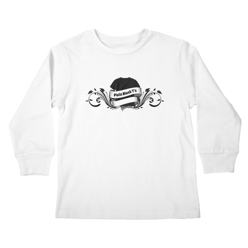 Plain Black T's Logo Kids Longsleeve T-Shirt by Coconut Justice's Artist Shop