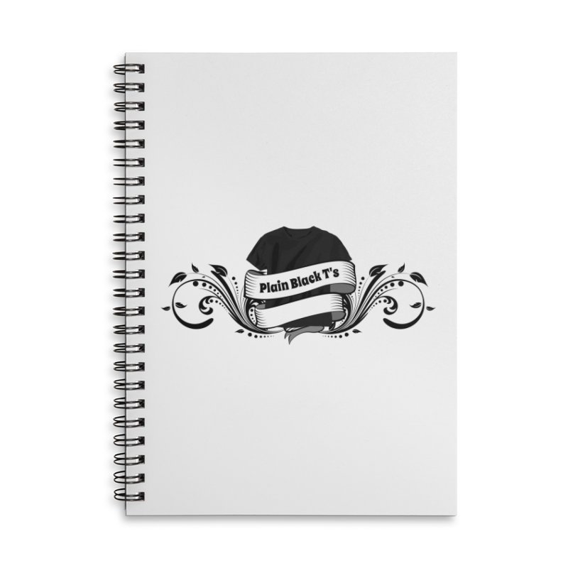 Plain Black T's Logo Accessories Notebook by Coconut Justice's Artist Shop