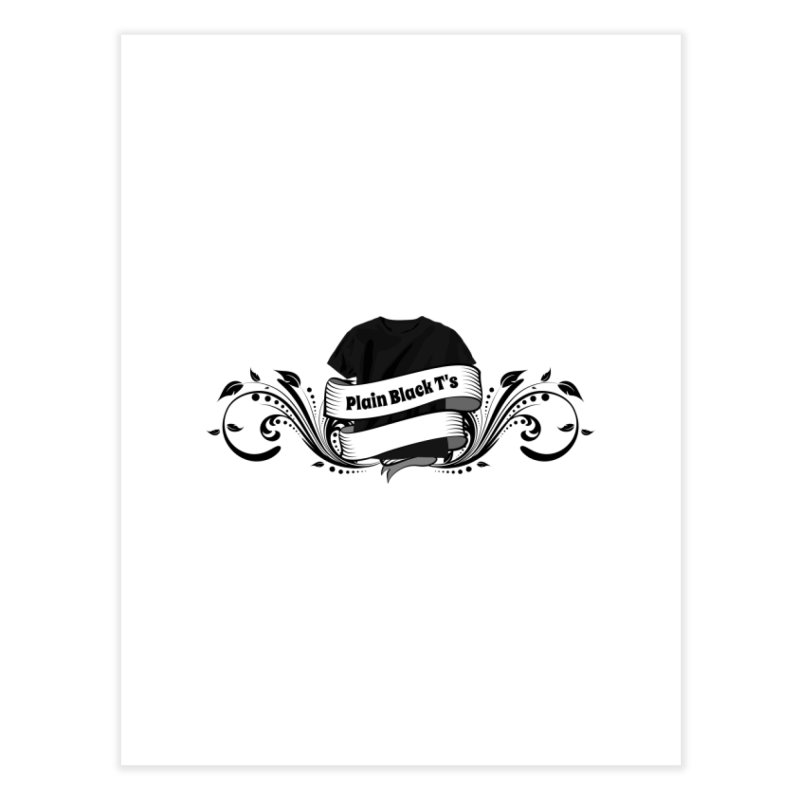 Plain Black T's Logo Home Fine Art Print by Coconut Justice's Artist Shop