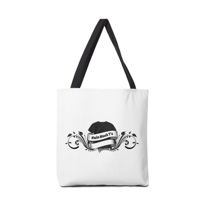 Plain Black T's Logo Accessories Tote Bag Bag by Coconut Justice's Artist Shop