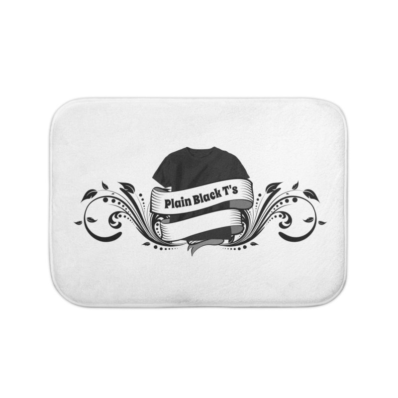 Plain Black T's Logo Home Bath Mat by Coconut Justice's Artist Shop