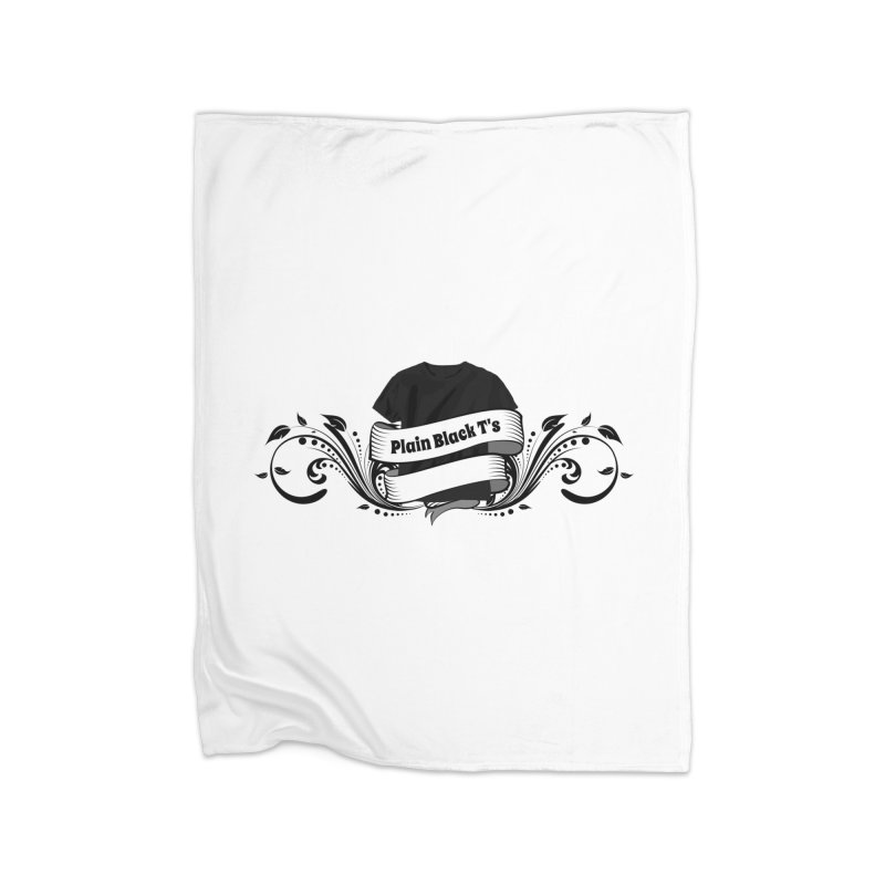Plain Black T's Logo Home Blanket by Coconut Justice's Artist Shop