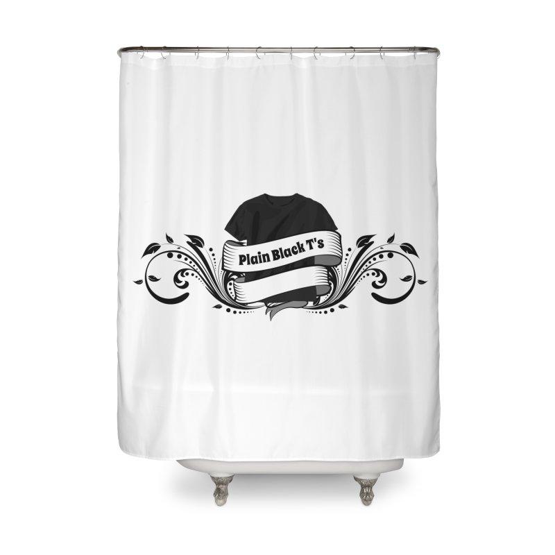 Plain Black T's Logo Home Shower Curtain by Coconut Justice's Artist Shop