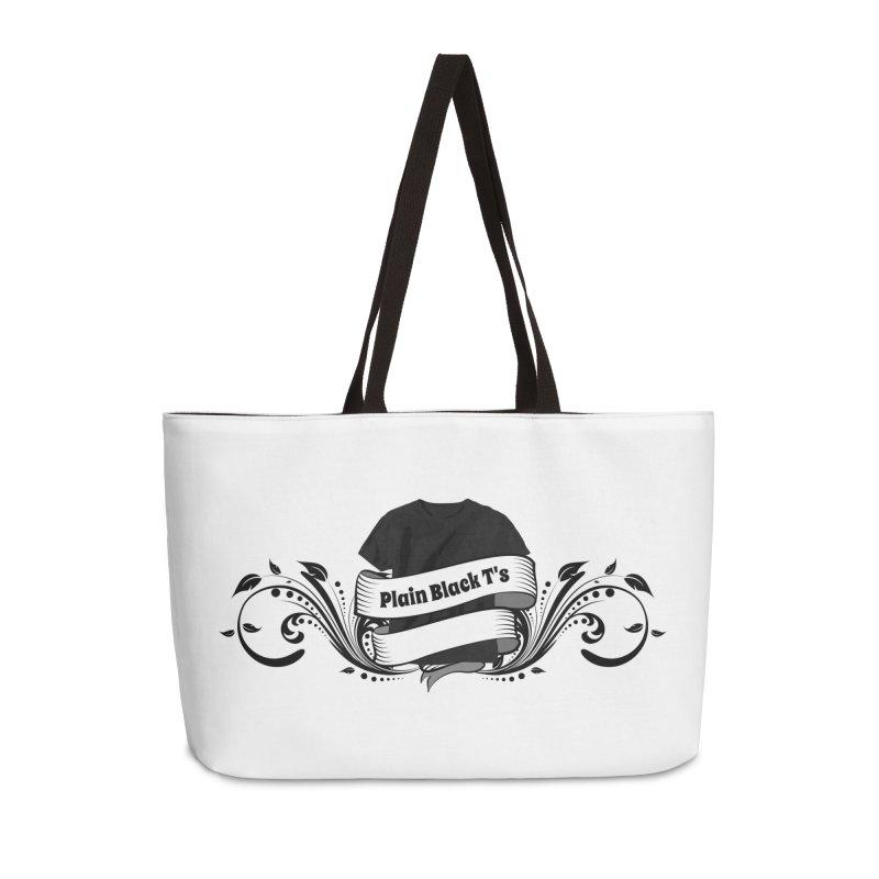 Plain Black T's Logo Accessories Weekender Bag Bag by Coconut Justice's Artist Shop