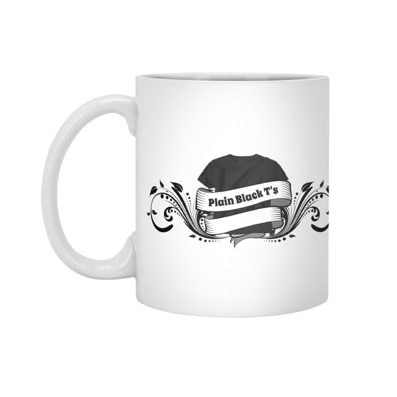 Plain Black T's Logo Accessories Mug by Coconut Justice's Artist Shop