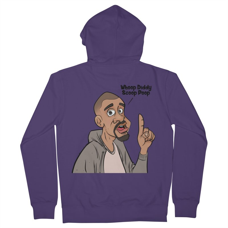 Whoop Diddy Scoop Poop Women's French Terry Zip-Up Hoody by Coconut Justice's Artist Shop