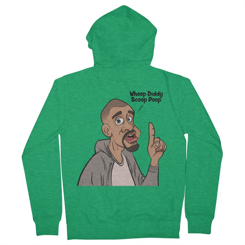 Whoop Diddy Scoop Poop Men's French Terry Zip-Up Hoody by Coconut Justice's Artist Shop