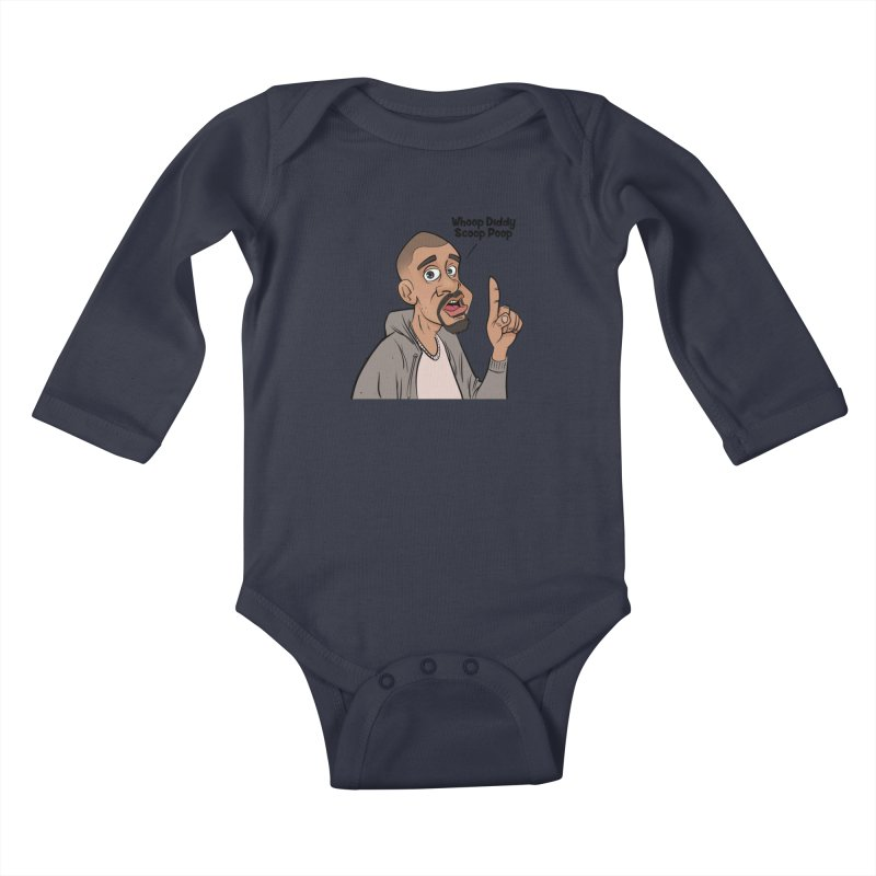 Whoop Diddy Scoop Poop Kids Baby Longsleeve Bodysuit by Coconut Justice's Artist Shop