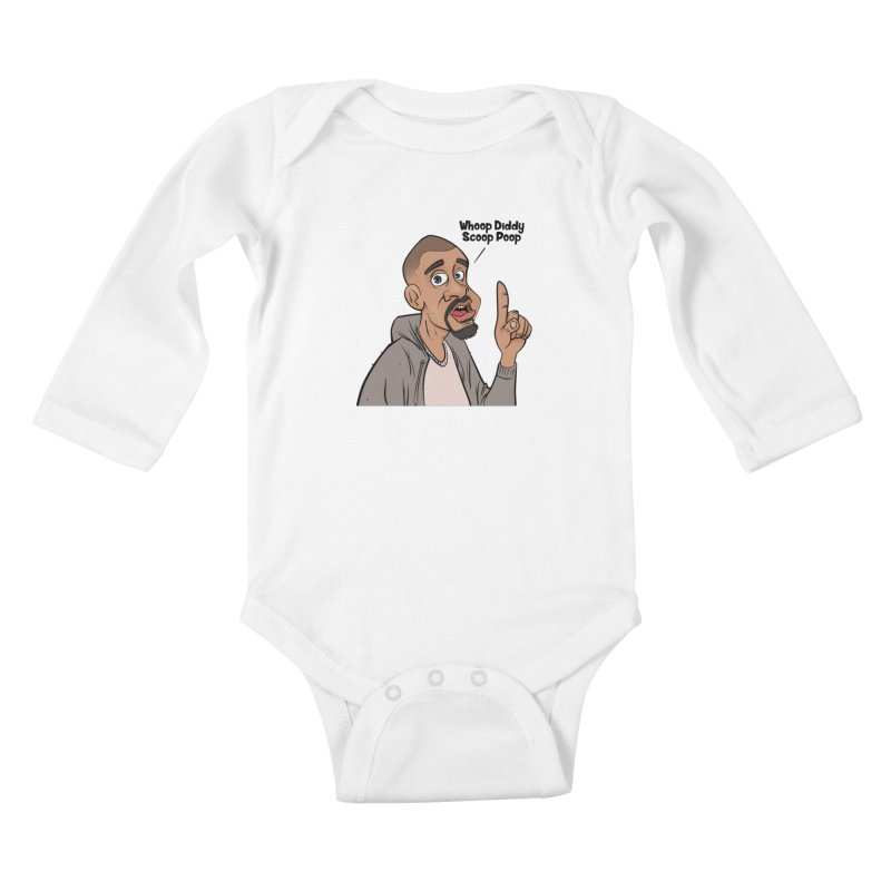 Whoop Diddy Scoop Poop Kids Baby Longsleeve Bodysuit by Coconut Justice's Artist Shop