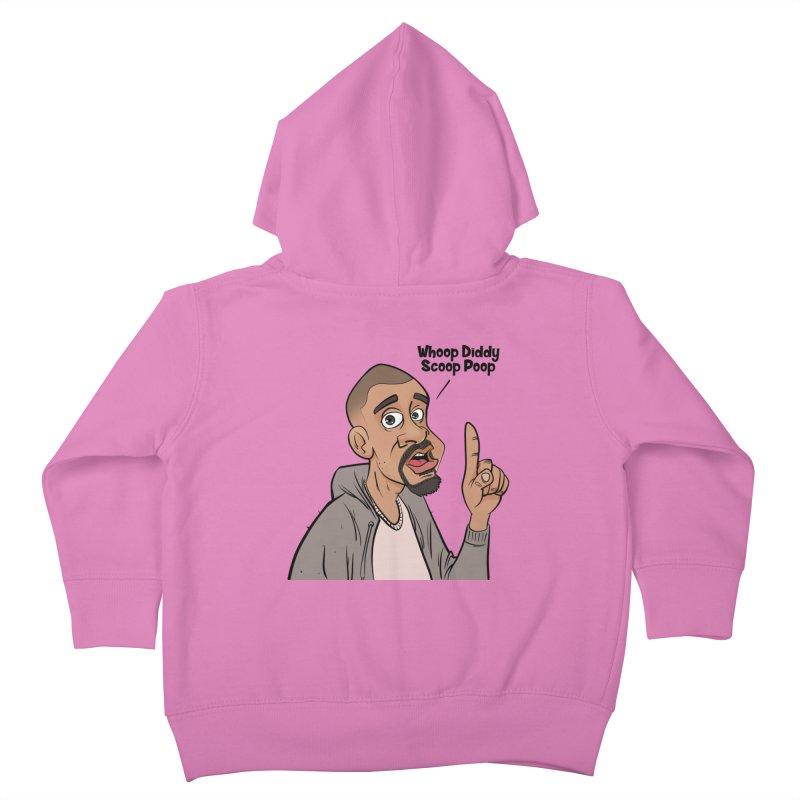Whoop Diddy Scoop Poop Kids Toddler Zip-Up Hoody by Coconut Justice's Artist Shop