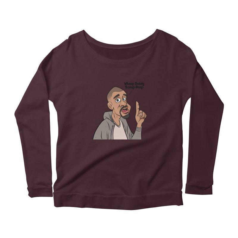 Whoop Diddy Scoop Poop Women's Scoop Neck Longsleeve T-Shirt by Coconut Justice's Artist Shop
